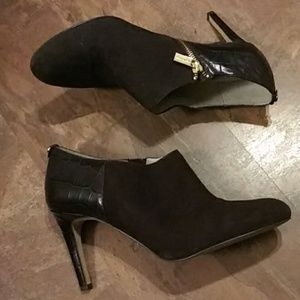 Michael Kors Sammy Brown Leather Ankle Boot SZ-10